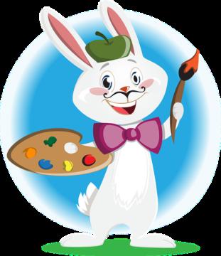 Bunny Artist Character Animal