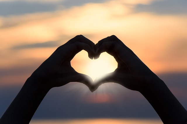 Heart Love Sunset Shape Sign