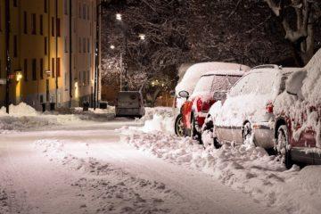 Snow Street Cars Covered Deep