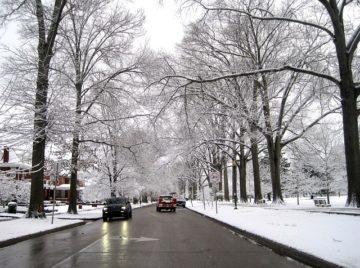 Street Winter Huntington Snow