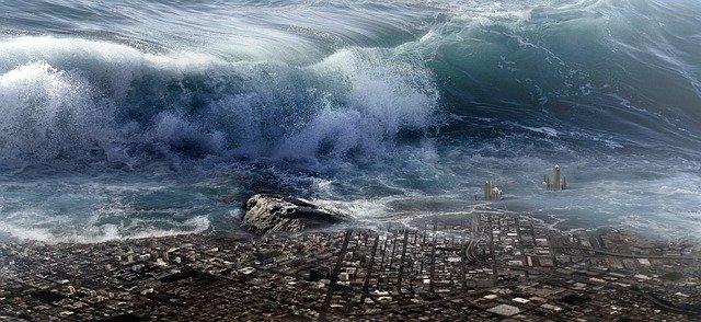 Fantasy Dramatic Tsunami Water fear of the future