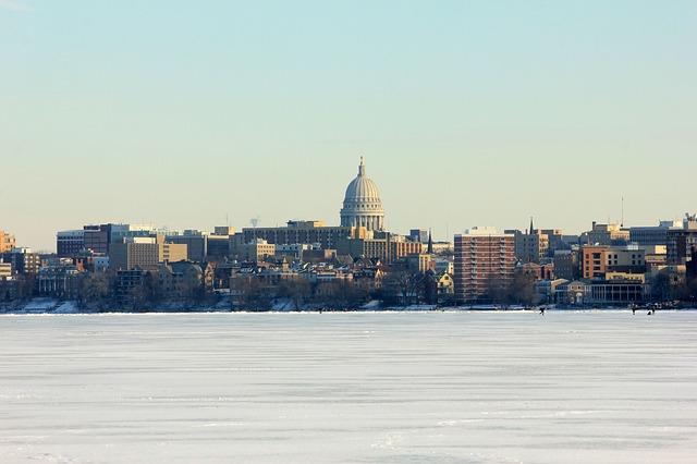 Madison Wisconsin Winter Landscape