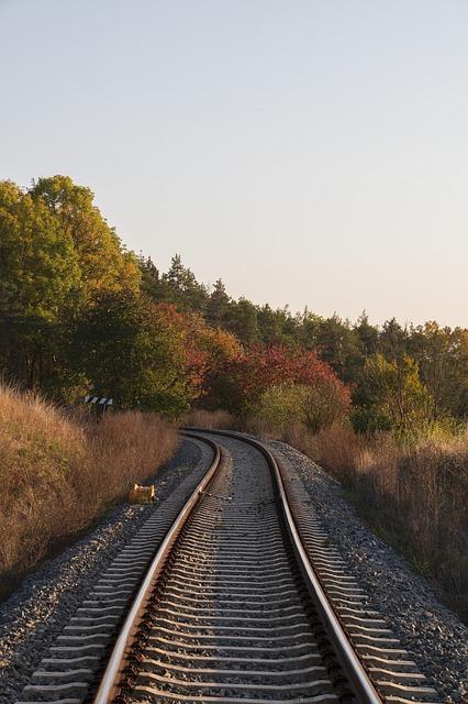 Track Rail Railway Train Transport
