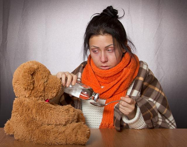 Girl Flu Medication Toy Flu Flu