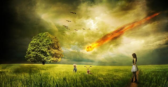 Meteorite Impact Comet Destruction