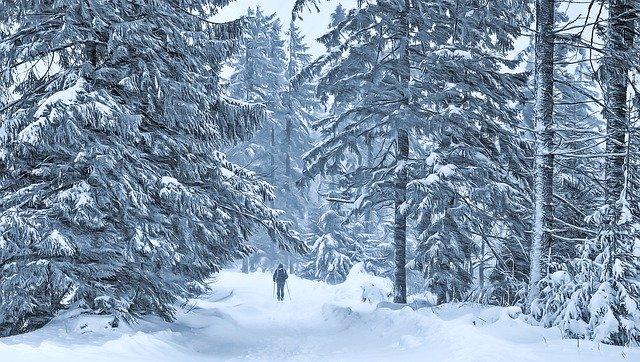 Winter Way Man Blizzard March