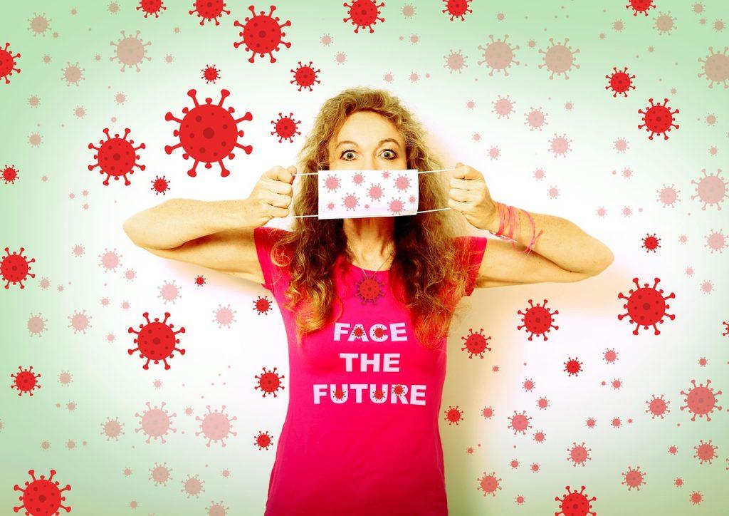 Corona Face The Future Mouth Guard  - melli666 / Pixabay